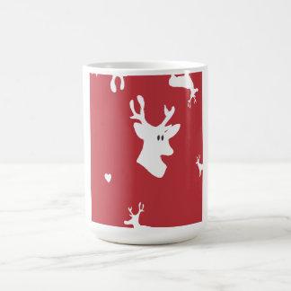 White Reindeers with Heart Mug