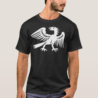 White Retro Phoenix Bird Graphic T-Shirt