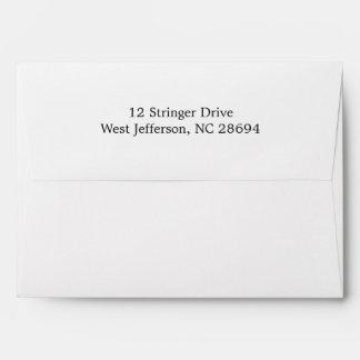 White Return Address Envelopes