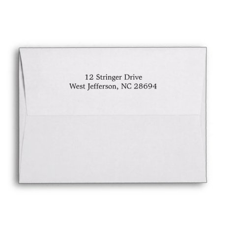White Return Address Envelopes