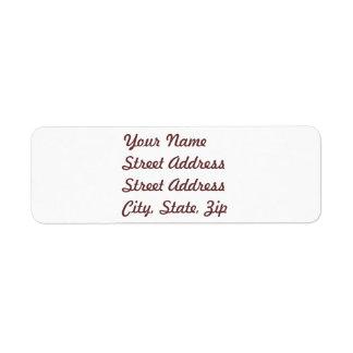 White  Return Address Sticker Label