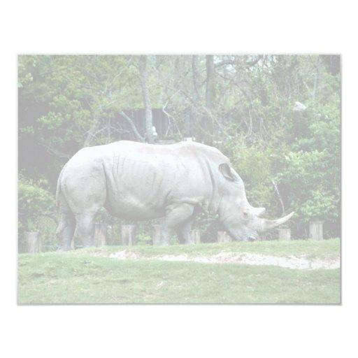 White Rhino 4.25x5.5 Paper Invitation Card