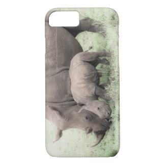 White Rhino & Baby Phone Case