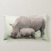 White Rhino & Baby Pillow