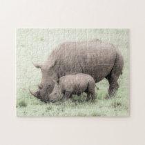 White Rhino & Baby Puzzle