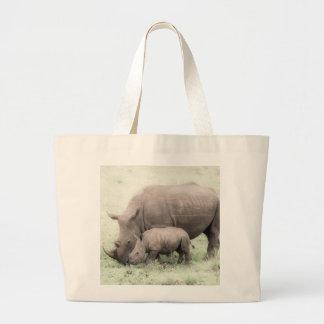 White Rhino & Baby Tote