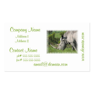 White Rhino Business Card