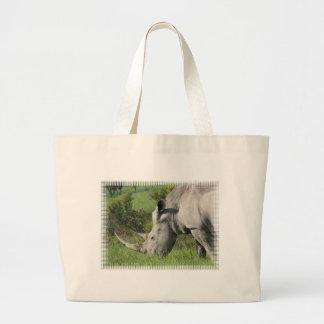 White Rhino Canvas Bag