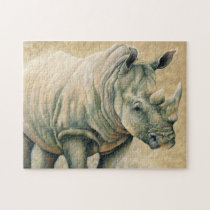 White Rhino Jigsaw Puzzle