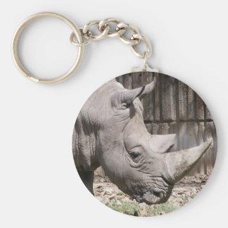 white rhino keychain