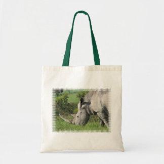 White Rhino Small Tote Bag
