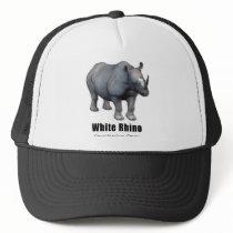 White Rhino Trucker Hat