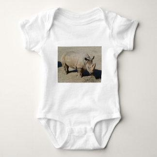 White Rhinoceros Rhino Full Body Baby Bodysuit