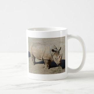 White Rhinoceros Rhino Full Body Coffee Mug