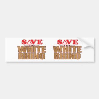 White Rhinoceros Save Bumper Sticker