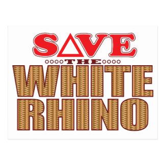White Rhinoceros Save Postcard