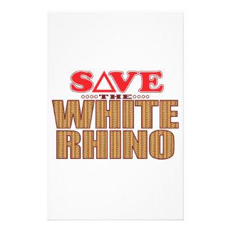 White Rhinoceros Save Stationery