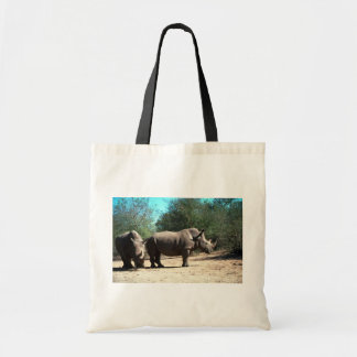 White Rhinos Canvas Bags