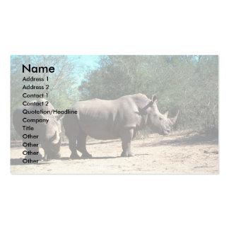 White Rhinos Business Card Template