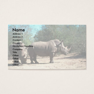 White Rhinos Business Card