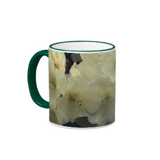 White Rhododendron Blossoms Floral Mug