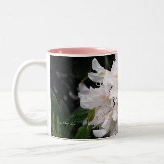 White Rhododendron Coffee Mug