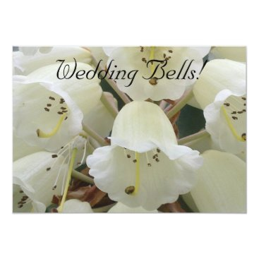 Wedding Themed White Rhododendron Invitation