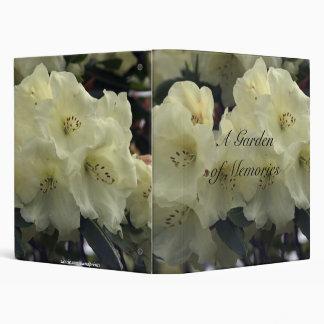 White Rhododendron Photo Album 3 Ring Binder