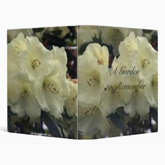 White Rhododendron Photo Album Vinyl Binders