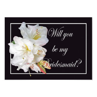 White Rhododendron, Will you be my Bridesmaid, Card