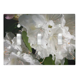 White Rhododendrons Light Switch Cover