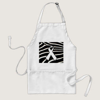 White Ribbon Adult Apron