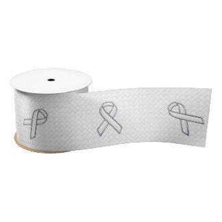White Ribbon Awareness Checkers Style