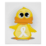 White Ribbon Duck Posters