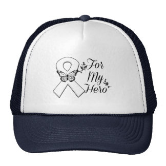 White Ribbon For My Hero Trucker Hat