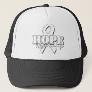 White Ribbon - Hope - Right to Life Trucker Hat