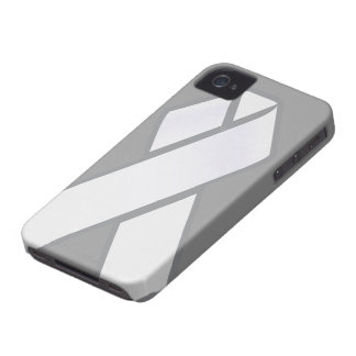 White Ribbon iphone case iPhone 4 Case-Mate Cases