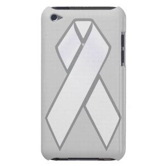 White Ribbon ipod case iPod Touch Case