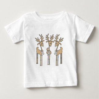 White Ribbon Reindeer Baby T-Shirt
