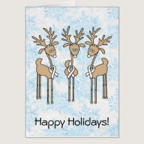 White Ribbon Reindeer Card