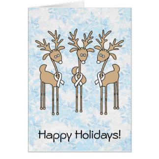 White Ribbon Reindeer Card