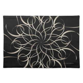White Ribbon Snowflake Pattern Cloth Placemat
