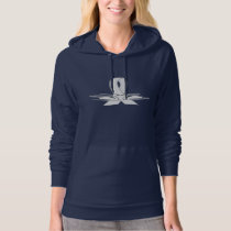 White Ribbon with Swans Hoodie