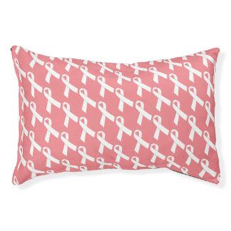 White Ribbons Tiled Pattern Pet Bed
