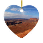 White Rim Overlook at Canyonlands National Park Ceramic Ornament