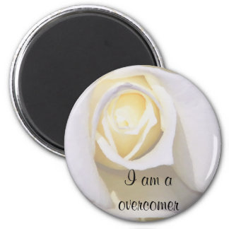 White Rise_ 2 Inch Round Magnet