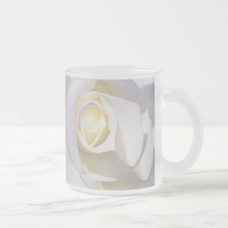 White Rise_ Frosted Glass Coffee Mug