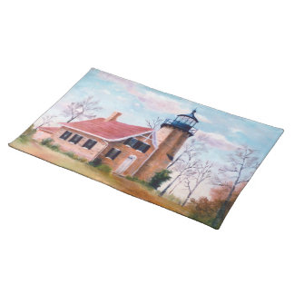 White River Lighthouse Placemat Cloth Placemat