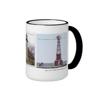 White River _ Little Sable _ Pentwater Pier Ringer Coffee Mug