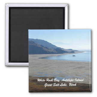 White Rock Bay, Antelope Island Great... 2 Inch Square Magnet